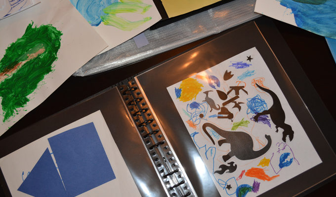 A Great Way to Organize Your Child's Artwork